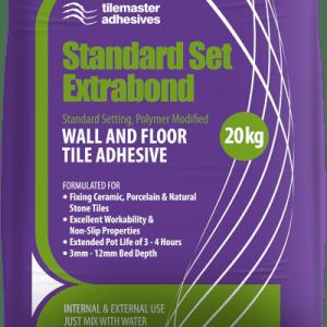 A 20kg bag of standard set extrabond