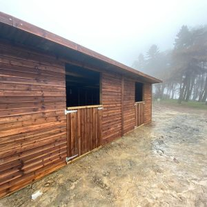 Horse Shelter on a foggy day