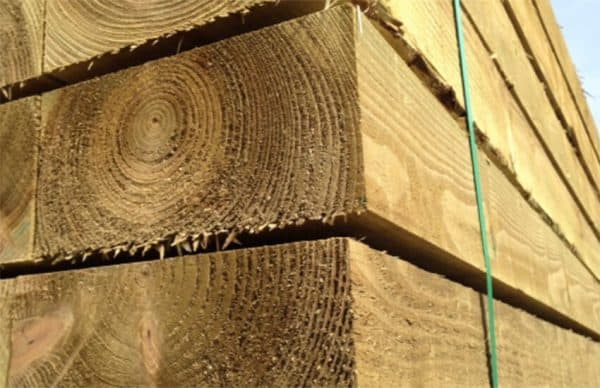 A zoomed in image of 2.4M Softwood Sleepers